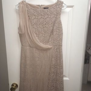 Ann Taylor lace dress with sheer detail
